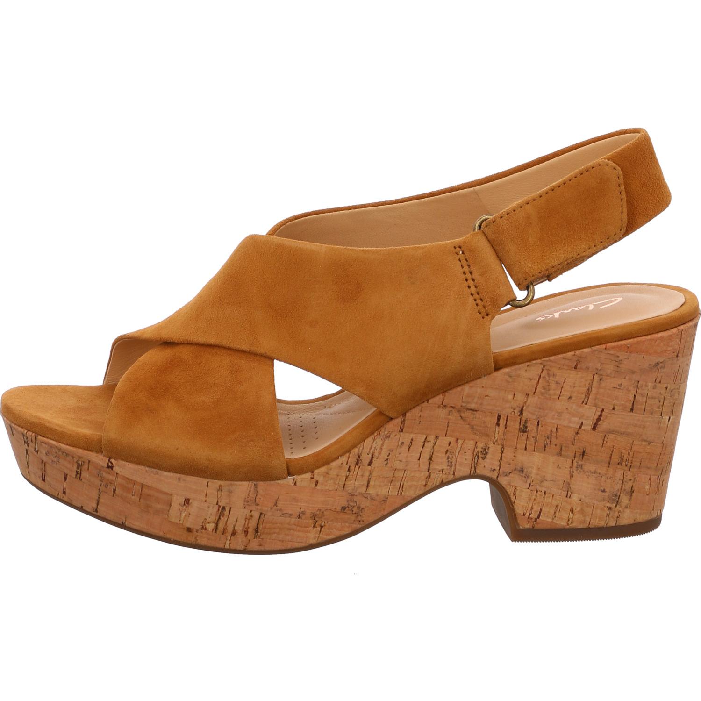 Clarks Sandale 261401214 MARITSA LARA gelb ochre Velour | eBay